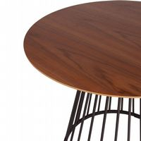 New 90cm Walnut Liverpool Dining Table- with Black Legs